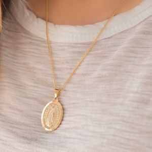 NEW! Virgin Marry Necklace 18K Gold Filled